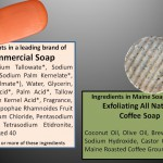 Commercial Soap Ingredients compared to Maine Soap Works
