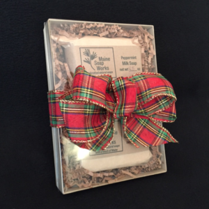 Holiday Gift Set Plaid Side View